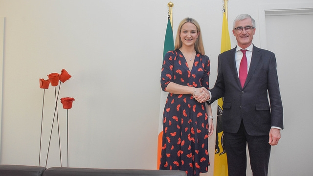 Irish Minister for European Affairs Helen McEntee