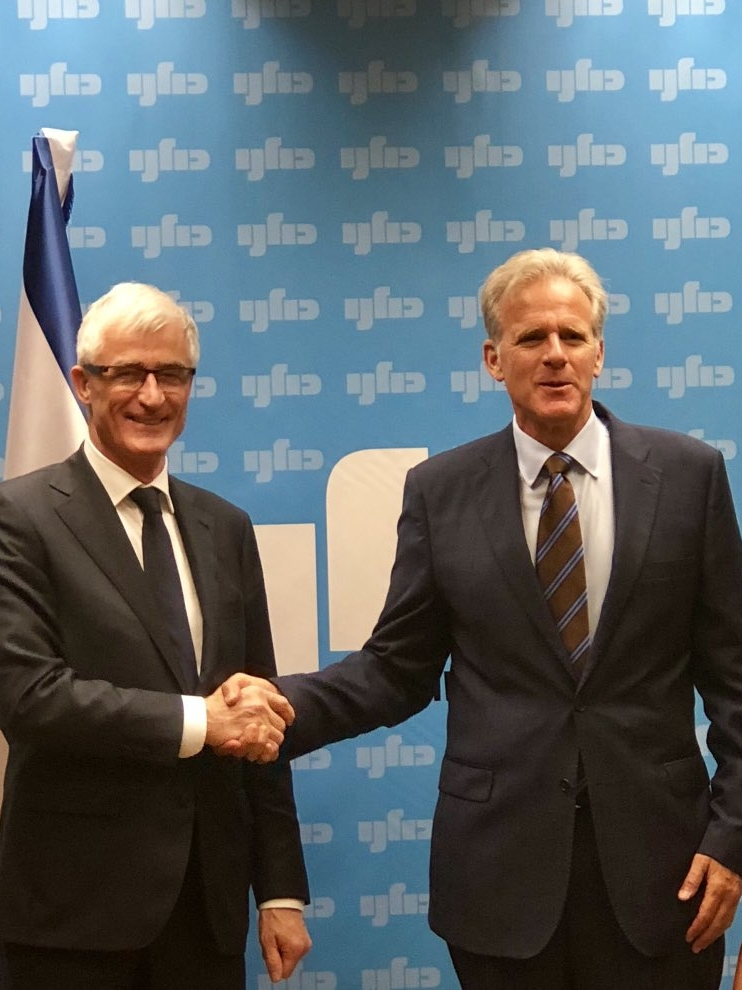 Minister-president Bourgeois and Secretary of State Michael Oren