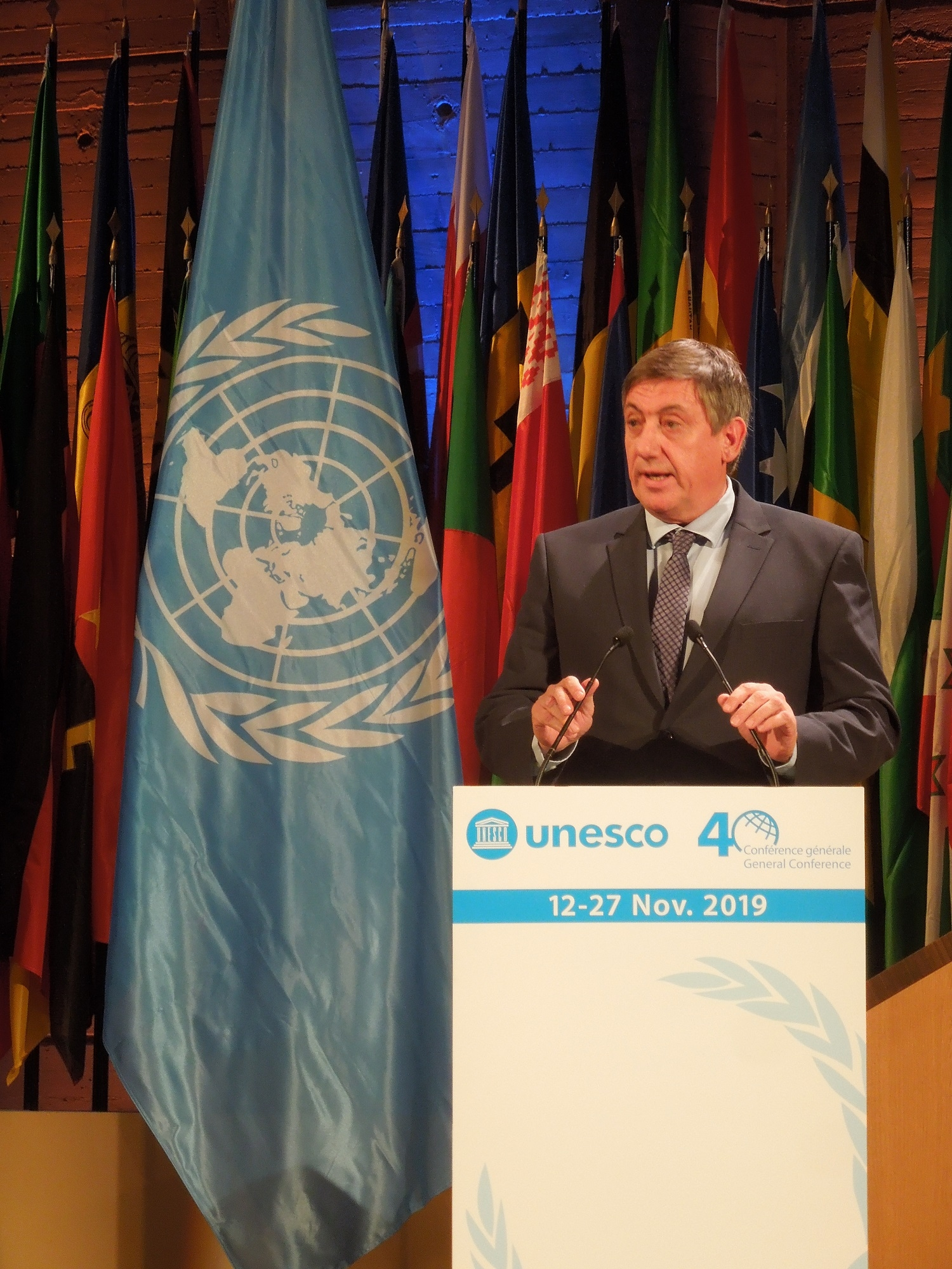 Minister-president Jambon at  Unesco General Conference  2019
