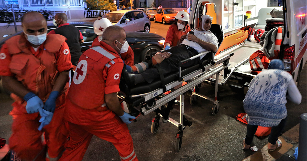 Red Cross explosion Beirut